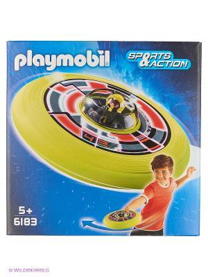 Игры на улице: Супер диск с астронавтом Playmobil. Цвет: салатовый