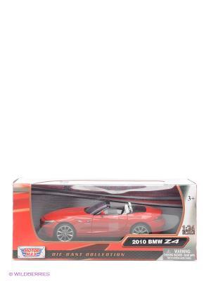 Машинка коллекционная 2010 BMW Z4 Roadster в масштабе 1к24 Motormax. Цвет: красный