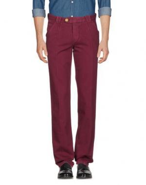 Повседневные брюки BARBA Napoli. Цвет: красно-коричневый
