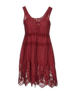 Короткое платье YES ZEE by ESSENZA. Цвет: красно-коричневый