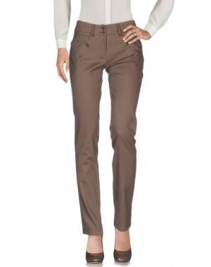 Повседневные брюки CANNELLA. Цвет: темно-коричневый
