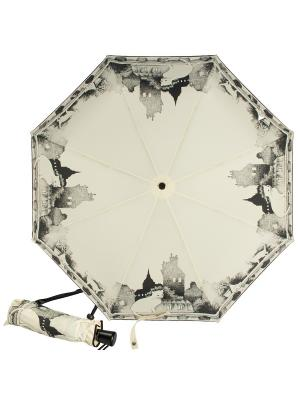 Зонт складной Cats Crema Guy De Jean. Цвет: черный, белый