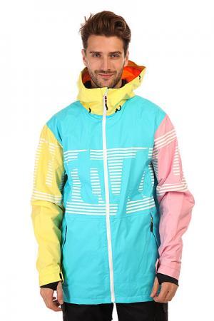 Куртка  Lowdown Jacket Neon Thirty Two. Цвет: голубой,желтый,розовый