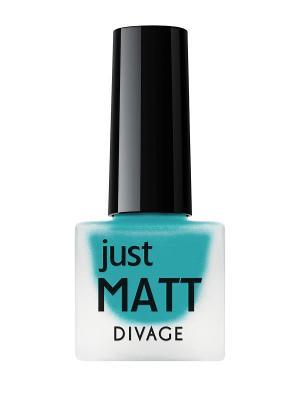 Лак для ногтей JUST MATT тон 5618 DIVAGE. Цвет: голубой