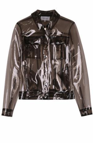 Куртка прямого кроя с накладными карманами Carven. Цвет: темно-серый
