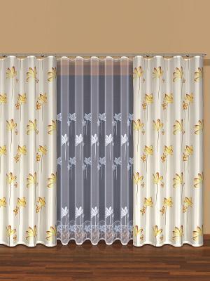 Комплект штор Haft. Цвет: белый