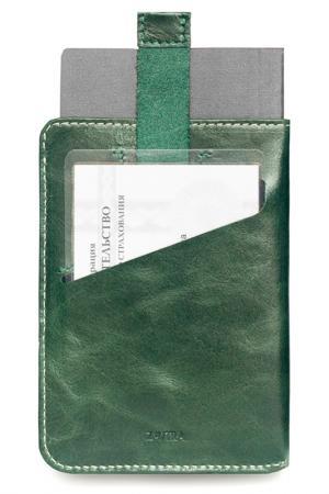 Обложка для паспорта ZAVTRA. Цвет: зеленый
