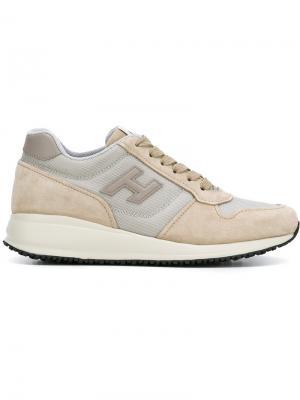 Lateral patch sneakers Hogan. Цвет: телесный