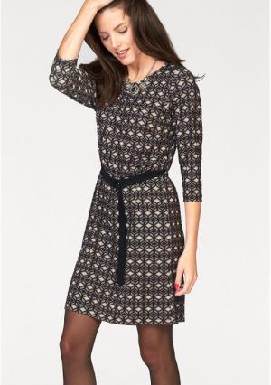 Платье VIVANCE. Цвет: черный/телесный/белый