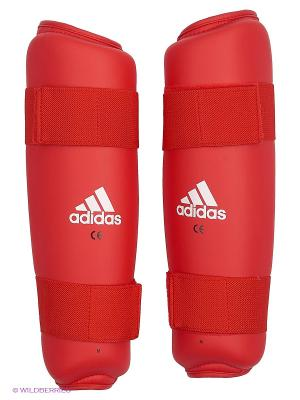 Защита голени PU Shin Guard Adidas. Цвет: красный