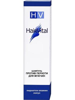 Шампунь для мужчин против перхоти 200 мл. Hair Vital. Цвет: синий, белый