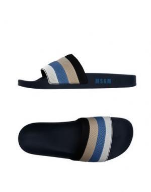 Домашние туфли MSGM. Цвет: лазурный