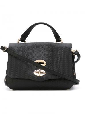 Маленькая сумка-тоут Postina Zanellato. Цвет: чёрный