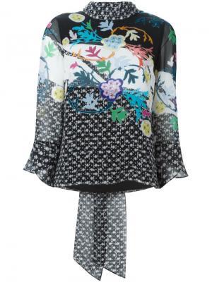 Блузка с цветочным принтом Peter Pilotto. Цвет: чёрный