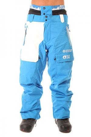 Штаны сноубордические  Colour Pant Blue Picture Organic. Цвет: голубой,белый