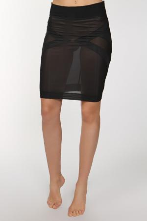 Корректирующая нижняя юбка Cotton Club. Цвет: черный