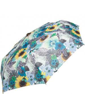 Автоматический зонт из полиэстера с ярким цветочным принтом Doppler. Цвет: цветочный принт
