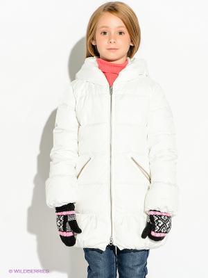 Пальто Bomboogie Kids. Цвет: белый