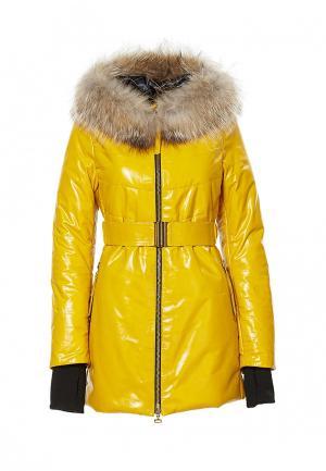 Куртка утепленная Grafinia. Цвет: желтый