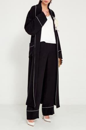 Черные шелковые брюки Maison Bohemique 189370729