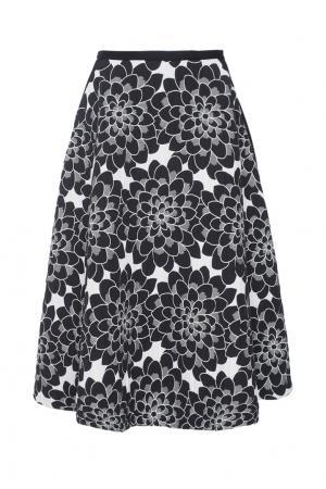 Хлопковая юбка Tegin. Цвет: черно-белый