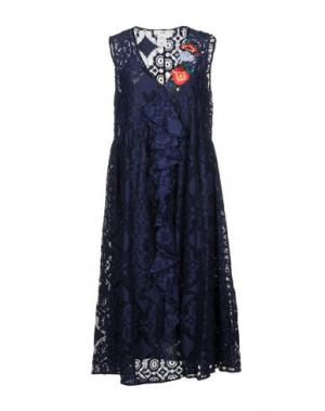 Платье длиной 3/4 SUOLI. Цвет: темно-синий