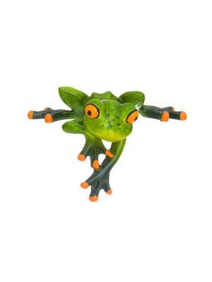 Фигурка декоративная Лягушонок Elan Gallery. Цвет: зеленый,оранжевый