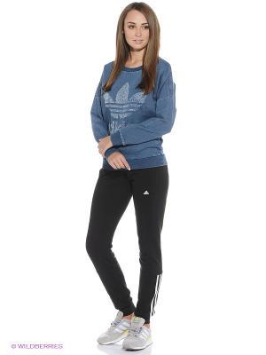 Джемпер DENIM SWEATSHIR Adidas. Цвет: синий