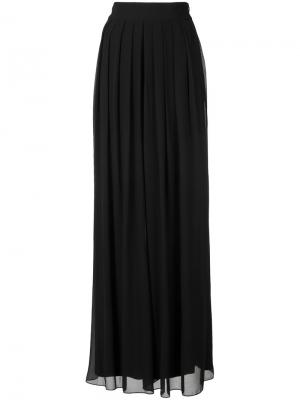 Pleated sheer palazzo trousers Badgley Mischka. Цвет: чёрный