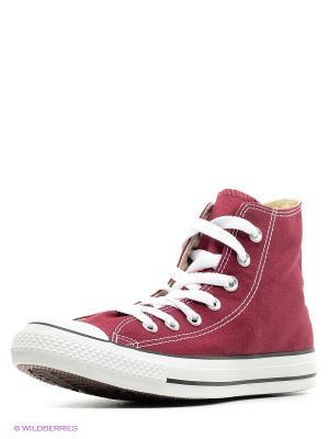 Кеды Converse. Цвет: бордовый, белый