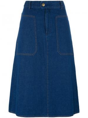 Flared denim skirt A.P.C.. Цвет: синий
