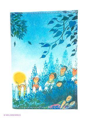 Обложка для автодокументов Под Луной Mitya Veselkov. Цвет: синий, зеленый, желтый, белый