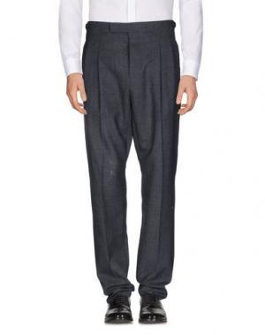 Повседневные брюки UMIT BENAN. Цвет: стальной серый