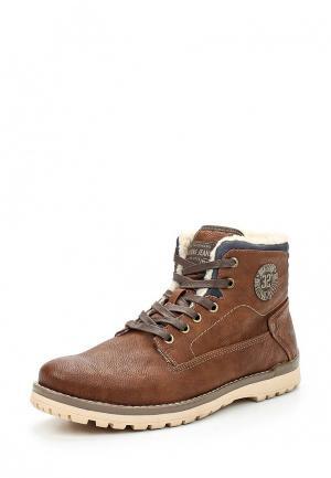 Ботинки Mustang. Цвет: коричневый
