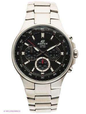 Часы EDIFICE EF-562D-1A CASIO. Цвет: серебристый, черный