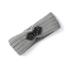 Бандо трикотажное с бусинами MADEMOISELLE R. Цвет: серый,черный