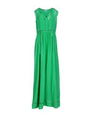 Длинное платье P.A.R.O.S.H.. Цвет: зеленый