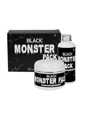 Esthetic house Набор для приготовления очищающей маски BLACK MONSTER PACK. Цвет: черный