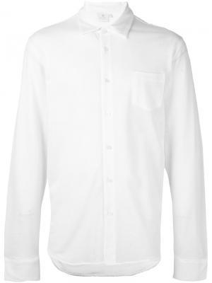 Рубашка L/S Pique Sunspel. Цвет: белый