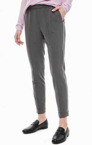 Серые трикотажные брюки на резинке Cinque. Цвет: серый