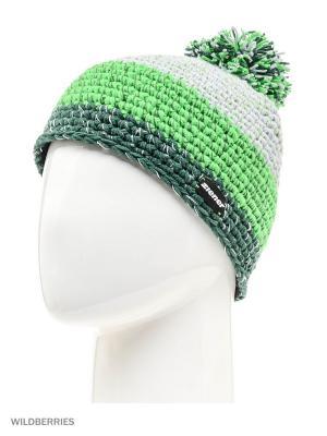 Шапка Ziener. Цвет: серый, зеленый