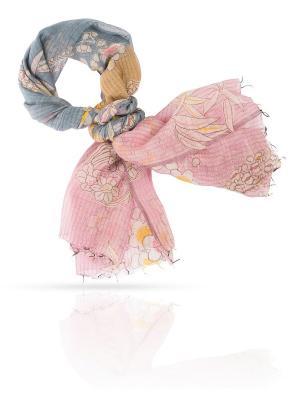Палантин MICHEL KATANA`. Цвет: голубой, бледно-розовый, золотистый