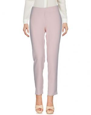Повседневные брюки LOLA MAY. Цвет: светло-розовый