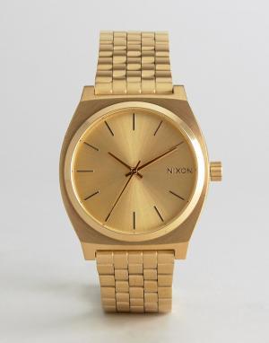 Nixon Золотистые часы-браслет Time Teller. Цвет: золотой