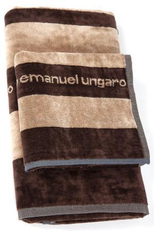 Комплект полотенец 2 пр. Emanuel Ungaro. Цвет: бежевый