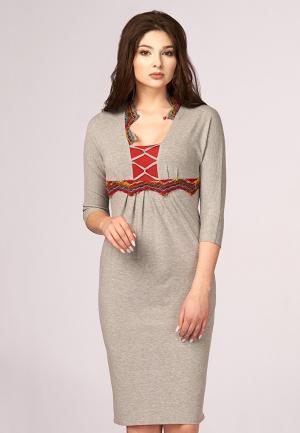 Платье Ано. Цвет: серый