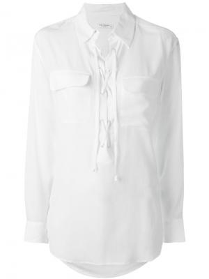 Блузка на шнуровке Equipment. Цвет: белый