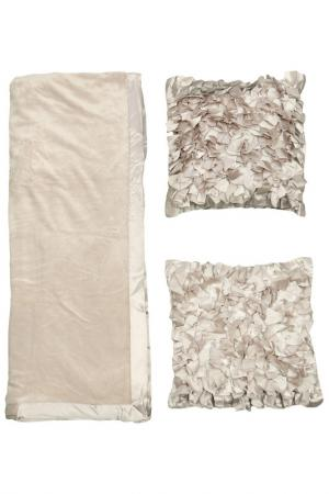 Комплект: 2 подушки, плед MIKRONESSE. Цвет: серебряный