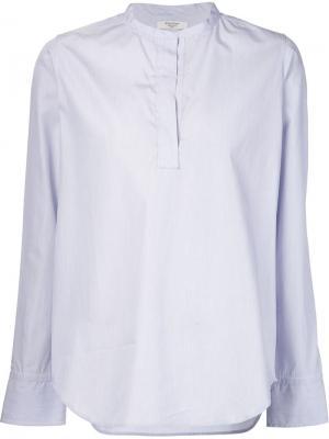 Блузка с воротником-стойкой Atlantique Ascoli. Цвет: синий