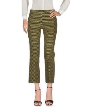 Повседневные брюки 1-ONE. Цвет: желтый